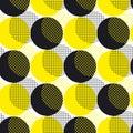Yellow round geometry seamless pattern vector illustration surfa