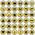 Yellow Round Web Buttons [1] Stock Image