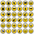 Yellow Round Web Buttons [2] Stock Photography