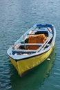Yellow rowboat Royalty Free Stock Photo
