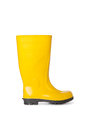 Yellow rubber boot Stock Images