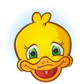 Yellow Rubber Duck Face Cartoon Royalty Free Stock Photo