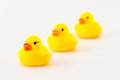 Yellow rubber duck isolated on the white background Royalty Free Stock Photo