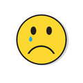Yellow Sad Face Cry Negative People Emotion Icon