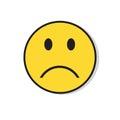 Yellow Sad Face Negative People Emotion Icon