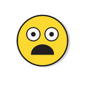 Yellow Sad Face Shocked Negative People Emotion Icon Royalty Free Stock Photo