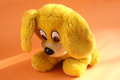 Yellow sad puppy cute little Royalty Free Stock Photo