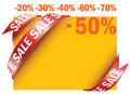 Yellow sale tag Royalty Free Stock Photo
