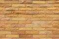The Yellow-sand brick walls. Royalty Free Stock Photo