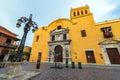 Yellow Santo Domingo Church Royalty Free Stock Photo