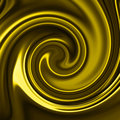 Yellow satin swirl Stock Photos
