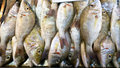Yellow scad fish at market Stock Photography