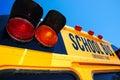 Yellow school bus Royalty Free Stock Photo