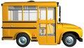 Yellow School Bus Illustration isolated Royalty Free Stock Photo