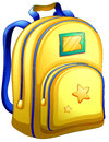 A yellow schoolbag illustration of on white background Royalty Free Stock Images