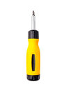 Yellow Screwdriver isolated on Royalty Free Stock Photo