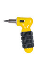 Yellow screwdriver. Royalty Free Stock Photo