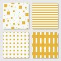 Yellow Seamless Geometric Patterns