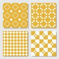 Yellow Seamless Geometric Patterns