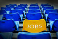 Yellow seat  with jobs wording Stock Photography