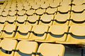 Yellow Seat Pattern Stock Photography