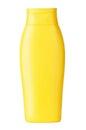 Yellow shampoo on a white background Royalty Free Stock Photos