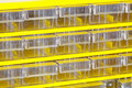 Yellow shelf pattern Royalty Free Stock Image