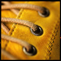 Yellow shoe Royalty Free Stock Photo