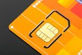 Yellow sim card Royalty Free Stock Photo