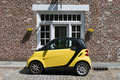 Yellow Smart Car Royalty Free Stock Image