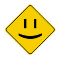 Yellow smile sign Royalty Free Stock Photo