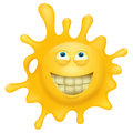 Yellow smiley face splash character