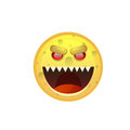 Yellow Smiling Face Angry Negative People Emotion Icon