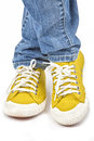 Yellow Sneakers Stock Images