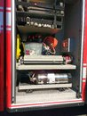 Firefighting Equipment in a Fire Truck, Rutherford, NJ, USA Royalty Free Stock Photo
