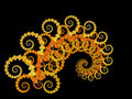 Yellow spiral fractal 2 Stock Photography