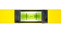 Yellow spirit level. Royalty Free Stock Photo