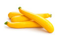 Yellow squash on white background Stock Images