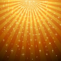 Yellow star burst with star fall Royalty Free Stock Photo
