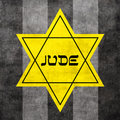 Yellow Star of David Royalty Free Stock Photos