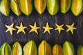 Yellow Star fruits Royalty Free Stock Photo