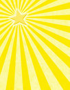 Yellow Star Sunbeams Royalty Free Stock Photo