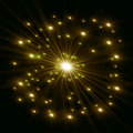 Yellow stars with rays Royalty Free Stock Image