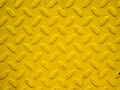 Yellow steel background plate metal Stock Photos