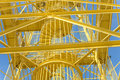 Yellow steel structure Royalty Free Stock Photo