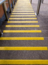 Yellow Steps Going Down - Accident Prevention Royalty Free Stock Photo