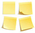 Yellow stick note Royalty Free Stock Photo