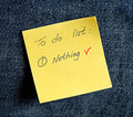A yellow sticky note Royalty Free Stock Images