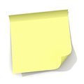 Yellow sticky note with curled corner Royalty Free Stock Photos