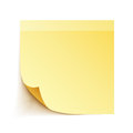 Yellow sticky note paper white background Royalty Free Stock Images